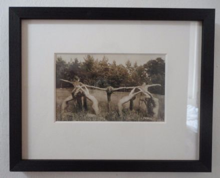 Antique German Nude Expressionist Dancers Photograph circa 1920